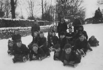 Go to Sledging on Elnor Lane 1947